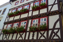 Gorgeous Half-Timbered House in Germany. Gorgeously crafted half-timbered house in Thueringen, Germany Royalty Free Stock Photo