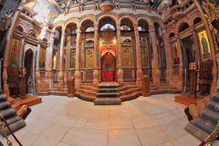 Gorgeous hall in the Holy Sepulchre Stock Images