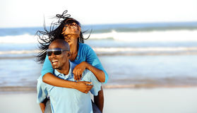 Gorgeous happy couple stock image