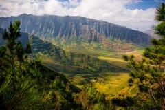Gorgeous Hawaiian Mountain Range Royalty Free Stock Images
