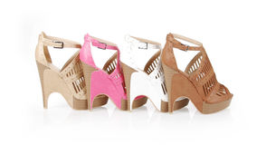 Gorgeous heels collections Royalty Free Stock Photography