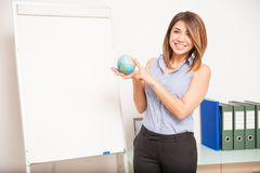 Gorgeous Hispanic language teacher Stock Images