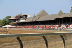 Gorgeous historic race track,Travers Stakes,Saratoga,New York,2015 Stock Image