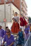 Malgrat de Mar, Catalonia, Spain, August 2018. Carnival on the streets of the city. stock images