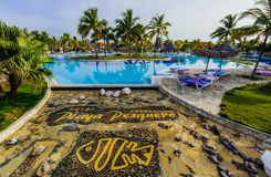 Free Gorgeous Inviting View Of Luxury Swimming Pool And Hotel Grounds In Tropical Garden Stock Photos - 83304363