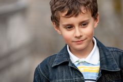 Gorgeous kid outdoors Stock Photography