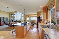 Gorgeous kitchen in perfect traditional home. Royalty Free Stock Photo