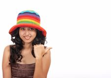 Gorgeous lady. Showing a thumbs up sign Royalty Free Stock Photos