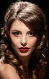 Gorgeous lady portrait close Royalty Free Stock Images