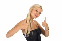Gorgeous Lady with Positive Attitude Stock Image