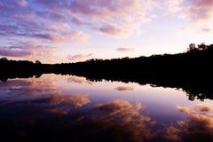 Gorgeous Lake Sunset Royalty Free Stock Photo