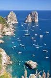 Gorgeous landscape of famous faraglioni rocks on Capri island, Italy Stock Photo