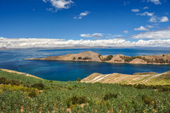 Gorgeous Landscape of Isla del Sol, Bolivia Royalty Free Stock Images