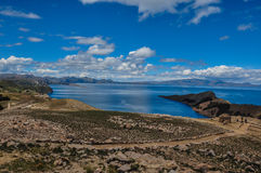 Gorgeous Landscape of Isla del Sol, Bolivia Royalty Free Stock Image