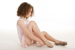 Gorgeous little girl in the studio Stock Image
