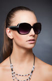 Gorgeous look with sunglasses Royalty Free Stock Images