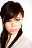Gorgeous looking asian face Stock Images