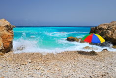Gorgeous mediterranean beach in summer Royalty Free Stock Photos