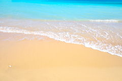Gorgeous mediterranean beach in summertime. Gorgeous mediterranean beach with turquoise water in summertime Stock Images
