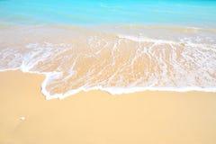 Gorgeous mediterranean beach in summertime. Gorgeous mediterranean beach with turquoise water in summertime Stock Photos