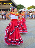 Gorgeous Mexican dancers Stock Photo