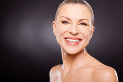 Mid age woman smiling Stock Photography