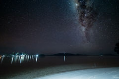 Gorgeous Milky Way from the remote Togian Islands, Indonesia Royalty Free Stock Photography