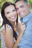Gorgeous Mixed Race Romantic Couple Portrait Outdoors Stock Photo