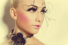 Gorgeous model with perfect art make up Stock Photo