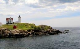 Gorgeous morning on warm Summer day, Nubble Lighthouse,York Maine,2015 Royalty Free Stock Photo
