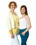Gorgeous mother and daughter posing Stock Images