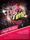 Gorgeous music party poster design Stock Photo