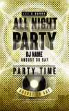 Gorgeous music party poster design Stock Photos