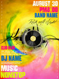 Gorgeous music party poster design Royalty Free Stock Photo