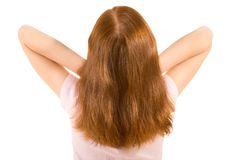 Gorgeous natural red head - back view of child Royalty Free Stock Photo