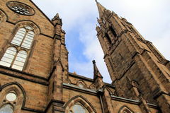 Gorgeous old gothic architecture of stone church Royalty Free Stock Photo