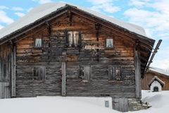 Gorgeous old skiing hut Royalty Free Stock Photography