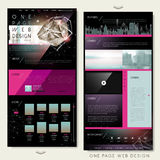Gorgeous one page website template design Stock Photos