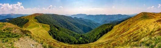 Gorgeous panorama of alpine mountain ridge Stock Image