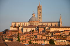 Gorgeous panorama of Siena at sunset, Tuscany, Italy Stock Photo