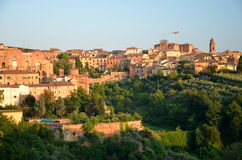Gorgeous panorama of Siena at sunset, Tuscany, Italy Stock Image