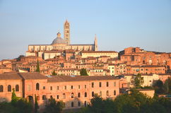 Gorgeous panorama of Siena at sunset, Tuscany, Italy Stock Photography