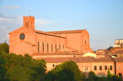 Gorgeous panorama of Siena at sunset, Tuscany, Italy Royalty Free Stock Images