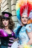 Gorgeous participants of Christopher Street Day Stock Photos
