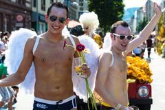 Gorgeous participants of Christopher Street Day Royalty Free Stock Photos