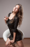 Gorgeous party girl. Royalty Free Stock Images
