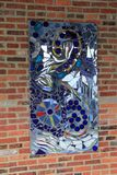 Gorgeous piece of art with colorful glass in abstract design,American Visionary Art Museum, Baltimore, 2017. Abstract concept in large piece of art, comprised of stock images