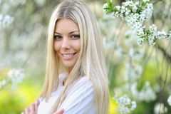 Gorgeous portrait of a young woman outdoors. Beautiful smile Royalty Free Stock Image