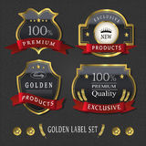 Gorgeous premium quality golden labels collection Stock Image