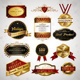 Gorgeous premium quality golden labels collection Stock Photos